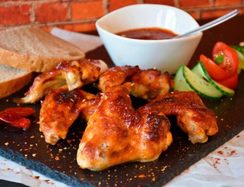 Alitas de pollo de corral al horno